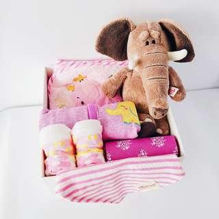 Brown Elephant Girl Gift Box