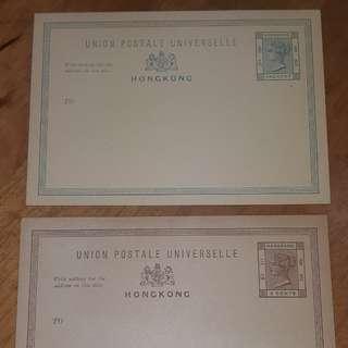 1881 QV 1c及3c郵資片,136年歷史,兩張合售港幣$160