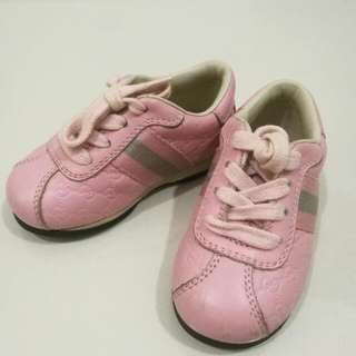 GUCCI Pink Baby Sneakers