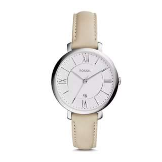 Preorder Fossil Ladies' Jacqueline Beige Leather Watch ES3793 (Limited time offer!)