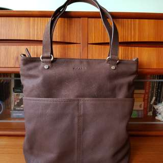 🌷65% Off BNWT🌷PICARD Dark Brown Buffalo Leather Tote Bag