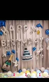 Birthday party DIY balloon decoration