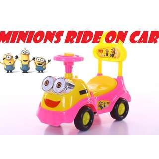 Minions Ride On Toy Car for kids push toy car