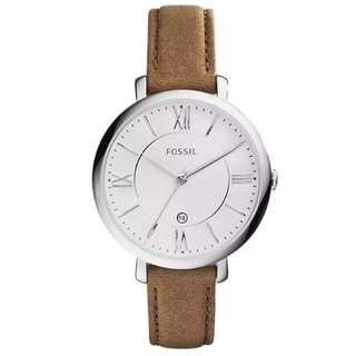 Preorder Fossil Jacqueline Brown Leather Ladies' Watch ES3708 (limited time offer)