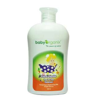 Baby Organix Extra Gentle Top To Toe Cleanser 400ml With Pump