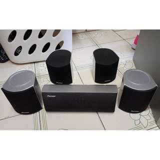 日本名廠 先鋒 Pioneer SX-SW100 5.1 聲道 surround amplifier,subwoofer,speaker 擴音機,重低音炮,環繞聲喇叭