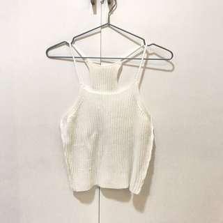 Knitted halter