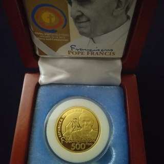 Pope Francis Commemorative Coin collection rare gift vintage gold silver diamond