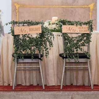 Wedding Chair Signages (Mr & Mrs)