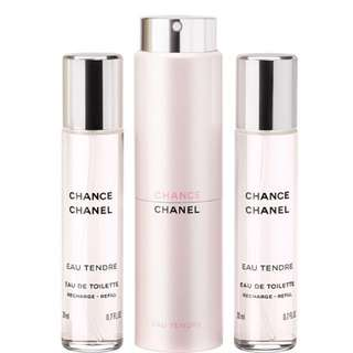 RTP$166 Chanel Chance Eau Tendre Twist and Spray Eau de Toilette 3x20ml