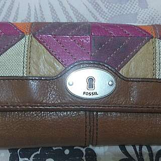Dompet fossil marlow patchwork