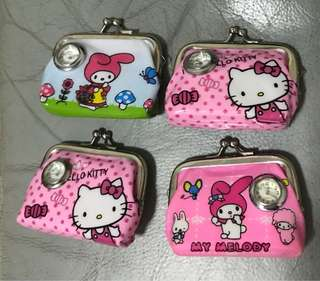Hello Kitty & Melody Coin Purse - 4 for $3 !