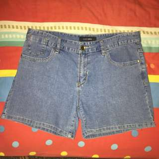 Bossini denim shorts plain classic design (plus size)