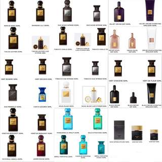 Tom Ford Fragrance 50ml, 100ml, 250ml
