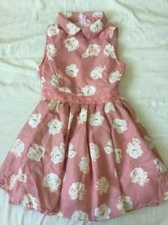 Liz Lisa Floral Pink Peach Dress