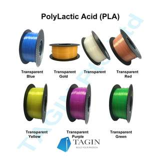 PLA Transparent 3D Filaments , 1kg (1.75mm