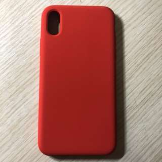 Iphone x 紅色軟膠殼 iphone case