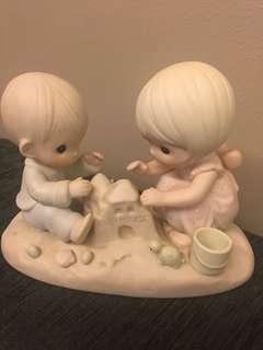Precious Moments Figurine- God Bless Our Home