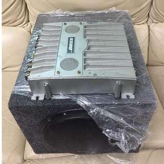 BRAXTON8吋全新低音箱+2CH後級