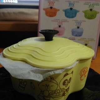 7-11 Line Le Creuset 竹福糖果盒(黃色)