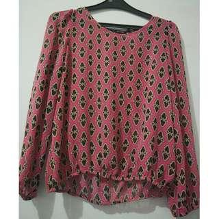 Invio Pink Blouse Printed