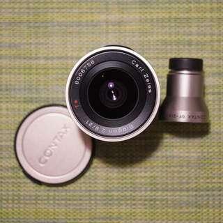 Contax Zeiss 21mm F2.8 Lens G G1 G2 Film Camera