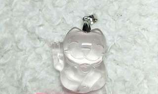 Fortune cat Pendant / crystal