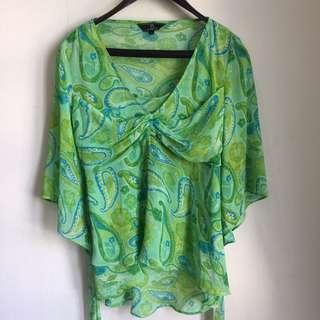 Batik Green Blouse