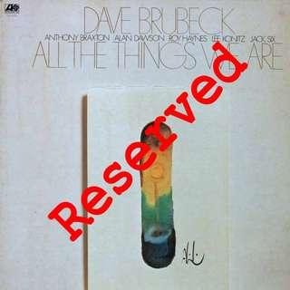 Dave Brubeck Vinyl LP, used, 12-inch original pressing