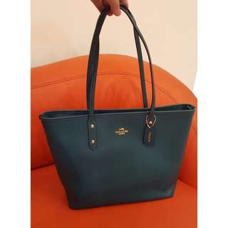 Coach Crossgrain City Zip Tote in Blue