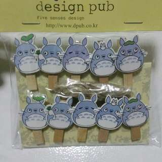 Totoro Wooden Clips