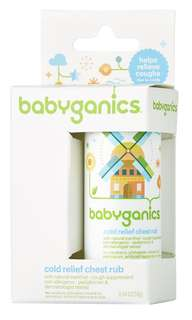 Cold relief chest rub - Babyganics, for cough
