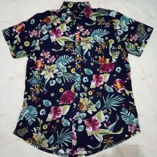 Tropical Floral Polo