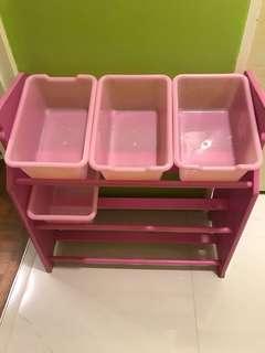Kids toys storage shelf