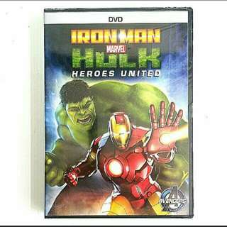[Brand New] DVD MOVIE: IRONMAN MARVEL HULK HEROES UNITED.  Region code:3 . Usual Price: $29.90  Lowest Price: $ 17.90 + Free Mail postage (Brand New In Box & Sealed) oR  whatsapp  85992490 To  Pick Up From Any Mrt Stn in Town. Last 2 piece left.