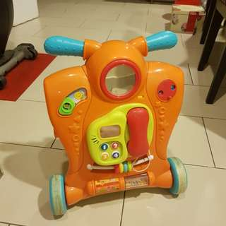 2 in 1 baby toys learning walker with music