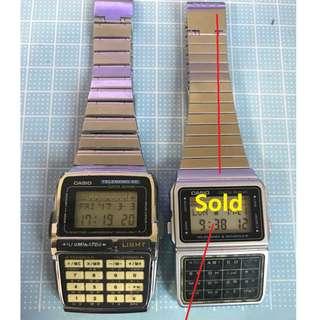 Vintage Casio Calculator Digital Men's Watch