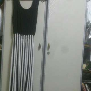 LADIES CLOTHES {4 FOR-$10} SEXTY STRIPES  VERY LONG DRESS.