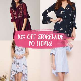 10% OFF All PO ITEMS!