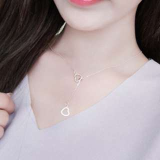 Double Heart Necklace (Gold)