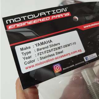 MOTOVATION HEAVY BAR END FOR  YAMAHA TMAX ( NOT DX VERSION)  , YAMAHA MT-10 ,  YAMAHA FZ8 , YAMAHA FZ6 , YAMAHA FZ1