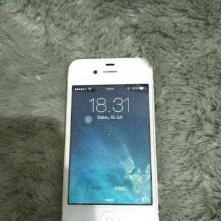 Iphone 4 - putih second 8gb