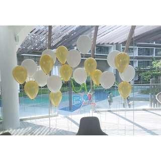 Plain 12'' Latex Helium Balloons (20 colors)