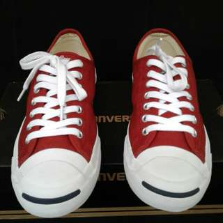Converse Jack Purcell JP Jack OX Terra Red Canvas Original Shoes Size 42 Fit To 41