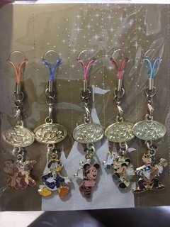 香港迪士尼樂園Disney手機繩5條