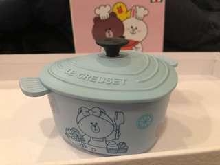 7-11 Le creuset for line friends Choco 心形鍋貯物盒連蓋