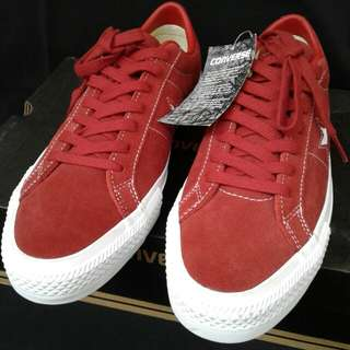 Converse One Star Pro Ox Terra Red Suede Original Shoes Size 42 fit 41