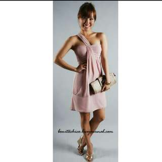 Bonitochico Dusky Pink Toga Dress