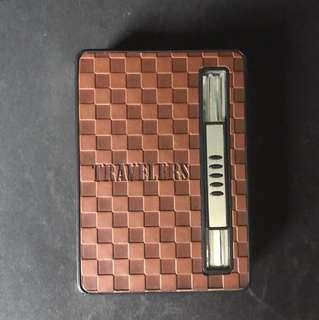 Cigarette holder with lighter