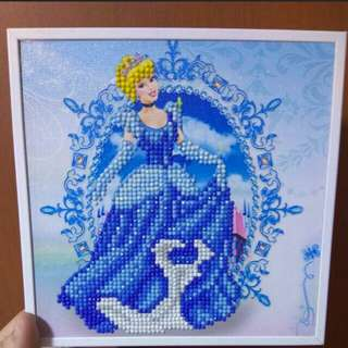 Cinderella diamond art - ASSEMBLED